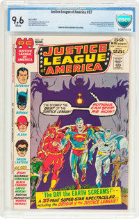 Justice League of America #97 (DC, 1972) CBCS NM+ 9.6 White pages