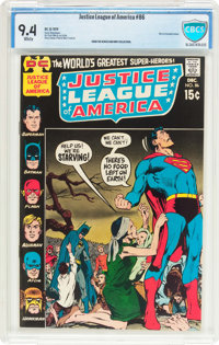 Justice League of America #86 (DC, 1970) CBCS NM 9.4 White pages