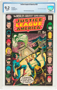 Justice League of America #83 (DC, 1970) CBCS NM- 9.2 White pages