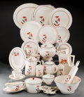 Ceramics & Porcelain, American:Modern  (1900 1949)  , An Extensive Two Hundred and Seventy-Five Piece Harker Pottery Co.Art Deco Dahlia Pattern Ceramic Dinner Service... (Total:275 Items)