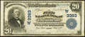 National Bank Notes:Kansas, Great Bend, KS - $20 1902 Plain Back Fr. 650 The First NB Ch. # (W)3363. ...