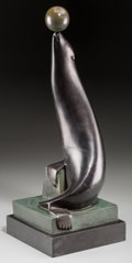 Sculpture, Marcel Andre Bouraine (French, 1886-1948). Otarie. Bronze with greenish brown patina. 17-1/2 inches (44.5 cm) high on a ...