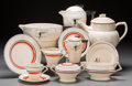 Ceramics & Porcelain, British:Modern  (1900 1949)  , A Forty-Piece Assembled Art Deco Ceramic Partial Service, circa1930-1940. Marks: (various marks). 8-1/4 inches high (21.0 c...(Total: 40 Items)
