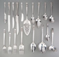 Silver Flatware, American:Other , A One Hundred Seventy-Six Piece Oneida Coronation PatternSilver-Plated Flatware Service with Associated Carving S... (Total:176 Items)