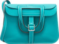 Luxury Accessories:Bags, Hermes 22cm Blue Paon Swift Leather Mini Halzan Bag with Palladium Hardware. X, 2016. Excellent to Pristine Condition...