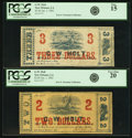 Obsoletes By State:Louisiana, New Orleans, LA - Lot of 2 G. W. Holt January 1, 1862 White Paper Notes.. ... (Total: 2 notes)
