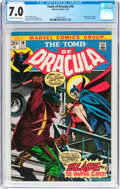 Bronze Age (1970-1979):Horror, Tomb of Dracula #10 (Marvel, 1973) CGC FN/VF 7.0 Off-white to whitepages....