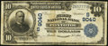 National Bank Notes:Mississippi, Pontotoc, MS - $10 1902 Plain Back Fr. 626 The First NB Ch. # (S)9040. ...