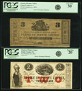 Obsoletes By State:Louisiana, Pointe Coupee, LA - Lot of 2 Parish of Pointe Coupee Notes from Two Series.. ... (Total: 2 notes)