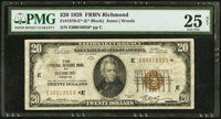 Fr. 1870-E* $20 1929 Federal Reserve Bank Note. PMG Very Fine 25 Net