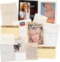 "Movie/TV Memorabilia:Documents, A Farrah Fawcett Collection of Personal and Professional DocumentsRelated to ""The Burning Bed.""..."