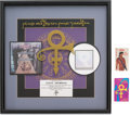 "Music Memorabilia:Awards, Prince ""Love Symbol Album"" RIAA Hologram Platinum Sales Award withTwo Backstage Passes (Paisley Park/Warner Bros. 9 45037-2, ...(Total: 3 Items)"