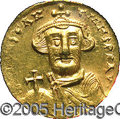 Ancients:Byzantine, Ancients: Constans II. A.D. 641-668. AV solidus (19 mm).Constantinople. Crowned facing bust, holding globus cruciger /Cross potent o...