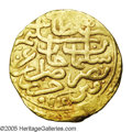 Algeria: , Algeria: Selim II gold Sultani 974AH (1567) Algiers Mint, Nuri Pere232, choice VF-XF, very bold details with completely readabledat...
