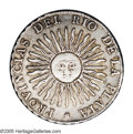 Argentina: , Argentina: Del Rio De La Plata 8 Reales 1813 PTS-J, KM5, XF withsome remaining luster. A nice example of the popular sun-facedesign....