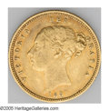 Australia: , Australia: Victoria gold 1/2 Sovereign 1881S, KM5, VF with a traceof luster in the legends. Only 62,000 minted....