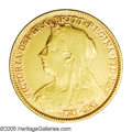 Australia: , Australia: Victoria gold 1/2 Sovereign 1896M, KM12, XF, noticeablemint luster especially in the obverse legends. Scarcer date....