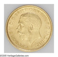 Australia: , Australia: George V gold 1/2 Sovereign - Nice Duo, KM28, 1915M, sharp XF-AU and 1915S, lustrous AU, very lightly toned.... (Total: 2 coins Item)