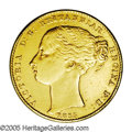 Australia: , Australia: Victoria gold Sovereign 1855 Sydney, KM2, bold VF+ withstrong details on Victoria's bust. Cleaned at one time and withsome...