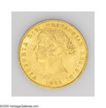 Australia: , Australia: Victoria gold Sovereign 1866, KM4, highly lustrousXF-AU, moderate contact marks only....