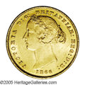 Australia: , Australia: Victoria gold Sovereign 1866, KM4, choice AU, full mintbloom and virtually no evidence of wear, even at the high points.Ni...
