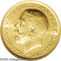 Australia: , Australia: George V gold Sovereign 1921S, KM29, MS62 NGC, a fullylustrous example of this very scarce date....