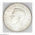 Australia: , Australia: George VI 1938 Crown, KM34, nice UNC, fully lustrouswith a particularly choice reverse. Very scarce and desirable inthis q...
