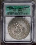 Austria: , Austria: Leopold the Hogmouth Taler 1701 Hall, KM644.4, Davenport1003, XF45 ICG, evenly toned with sharp details on the bust....