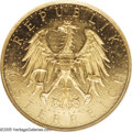 Austria: , Austria: Republic gold 100 Schilling 1933, KM2842, Fr-520,Prooflike 63 NGC, rarest date of the type with a mintage of4,725....