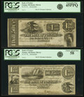 Obsoletes By State:Michigan, Pontiac, MI - Lot of 2 Bank of Pontiac Odd Denomination Remainder Notes.. ... (Total: 2 notes)