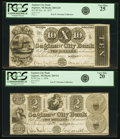 Obsoletes By State:Michigan, Saginaw, MI - Lot of 2 Saginaw City Bank Late 1830s Issued Notes.. ... (Total: 2 notes)
