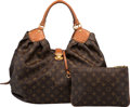 Luxury Accessories:Bags, Louis Vuitton Limited Edition Matte Brown Crocodile & ClassicMonogram Canvas XL Bag. Excellent to Pristine Condition. ...