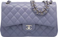 "Luxury Accessories:Bags, Chanel Lavender Quilted Lambskin Leather Jumbo Double Flap Bag withSilver Hardware. Excellent Condition. 12"" Width x ..."