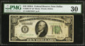 Small Size:Federal Reserve Notes, Fr. 2001-K* $10 1928A Federal Reserve Note. PMG Very Fine 30.. ...