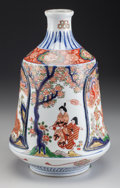 Asian:Japanese, A Japanese Porcelain and Partial Gilt Imari Vase. Marks: (charactermarks to underside). 11-1/2 inches high (29.2 cm). PRO...