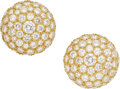 Estate Jewelry:Earrings, Diamond, Gold Earrings, Harry Winston. ...