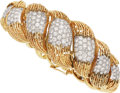 Estate Jewelry:Bracelets, Diamond, Platinum, Gold Bracelet, Hammerman Bros.. ...