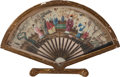 Asian:Chinese, A Chinese Framed and Painted Silk Fan, 19th century. 15 inches highx 23-1/2 inches wide (38.1 x 59.7 cm) (framed). ...