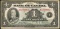 Canadian Currency: , BC-1 $1 1935.. ...
