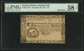 Colonial Notes:South Carolina, South Carolina December 23, 1776 $5 PMG Choice About Unc 58 EPQ.....
