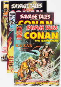 Savage Tales Group of 16 (Marvel, 1973-86) Condition: Average VF/NM.... (Total: 16 Comic Books)