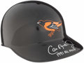 Baseball Collectibles:Others, Cal Ripken Jr. Signed Baltimore Orioles Replica Helmet....