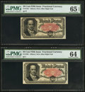 Fractional Currency:Fifth Issue, Fr. 1381 50¢ Fifth Issue PMG Gem Uncirculated 65 EPQ. Fr. 1381 50¢ Fifth Issue PMG Choice Uncirculated 64.. ... (Total: 2 notes)