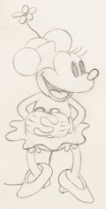 Animation Art:Production Drawing, Building a Building Minnie Mouse Animation Drawing (WaltDisney, 1933). ...