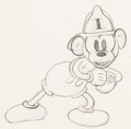 Animation Art:Production Drawing, Mickey's Fire Brigade Mickey Mouse Animation Drawing (WaltDisney, 1935).. ...