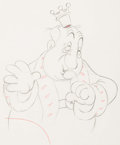 Animation Art:Production Drawing, Mother Goose Goes Hollywood Hugh Herbert Animation Drawing(Walt Disney, 1938). ...