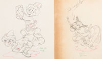 Mother Goose Goes Hollywood Groucho, Chico, and Harpo Marx Animation Drawing Group of 2 (Walt Disney, 1938). ... (Total:...