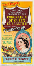 """Movie Posters:Documentary, A Queen is Crowned (Universal International, 1953). Three Sheet (41"""" X 79""""). Documentary.. ..."""