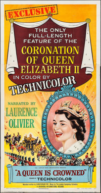 """A Queen is Crowned (Universal International, 1953). Three Sheet (41"""" X 79""""). Documentary"""