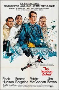 "Ice Station Zebra (MGM, 1969). One Sheet (27"" X 41"") Style A. Thriller"